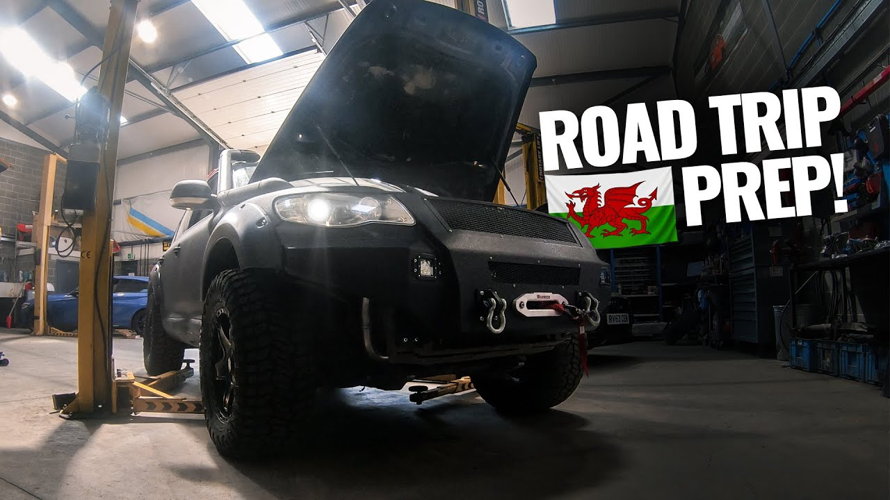 Last minute Touareg prep before our 450+ Mile Greenlaning Trip to Wales!