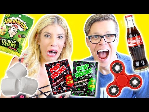POP ROCKS YOU CALL IT CHALLENGE! (Day 175) (Fidget spinners, Coke and Sour Warheads)
