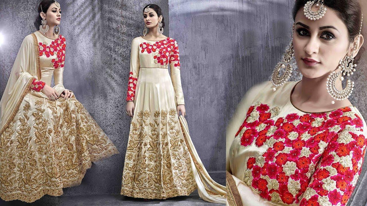 31fcc3ad01fc Anarkali Dress Designs  Designer Party Wear Dresses Latest Stylish Long  Floor Length Floral Design