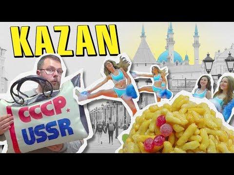 Kazan, Russia on $100. Foobtall, Big Eats and Cheerleaders.