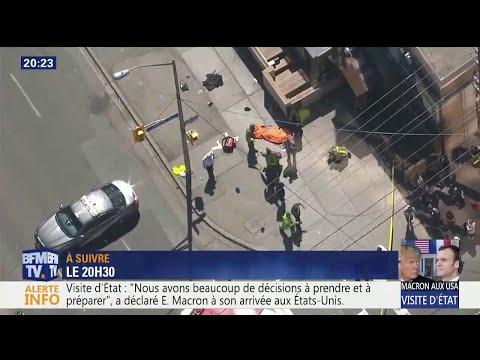 Une dizaine de piétons ont été renversés par une camionnette à Toronto