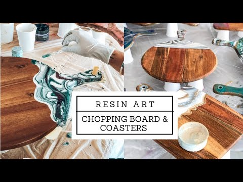 How to make resin serving boards and coaster
