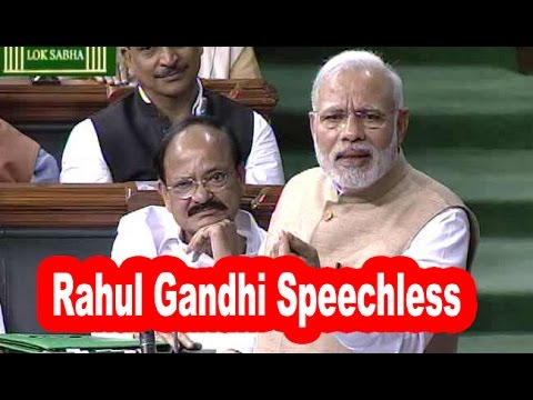 Narendra Modi Rocking Speech Makes DUMB Rahul Gandhi Speechless