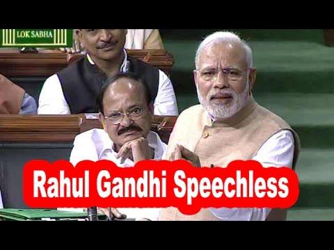 Narendra Modi Rocking Speech Makes DUMB Rahul Gandhi Speechless