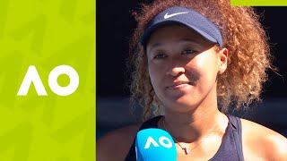 "Naomi Osaka: ""I was just guessing!"" on-court interview (SF) 