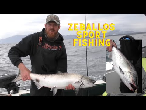 Amazing King Salmon Fishing Off The West Coast Of Canada