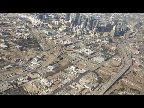 Downtown Dallas Skyline Aerial Flyover December 2017