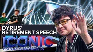 Iconic esports moments: dyrus' retirement speech, worlds 2015 (lol)