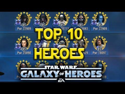 Top 10 Best Heroes June 2018 - Star Wars: Galaxy Of Heroes - SWGOH