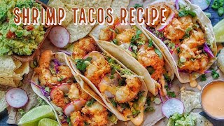 BEST SHRIMP TACO RECIPE EVER ll GUACAMOLE
