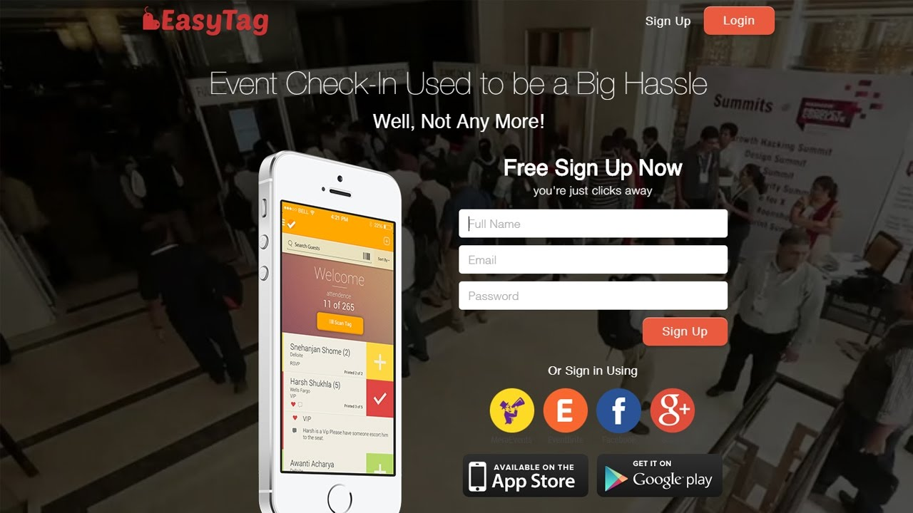 Event Check In & Badge Printing App | MeraEvents