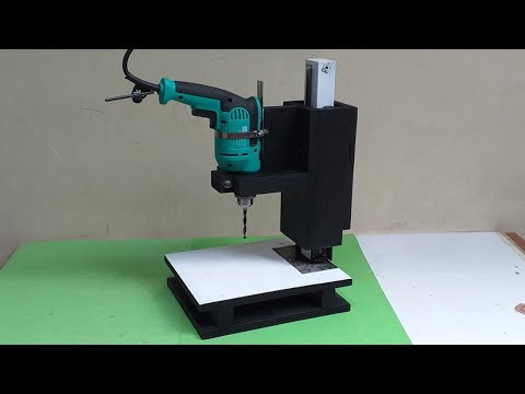 Amazing New Drill Press DIY, Make Yourself || Simple Woodworking Tools Homemade