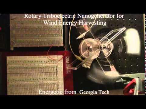 Triboelectric generators for harvesting fluidic energies