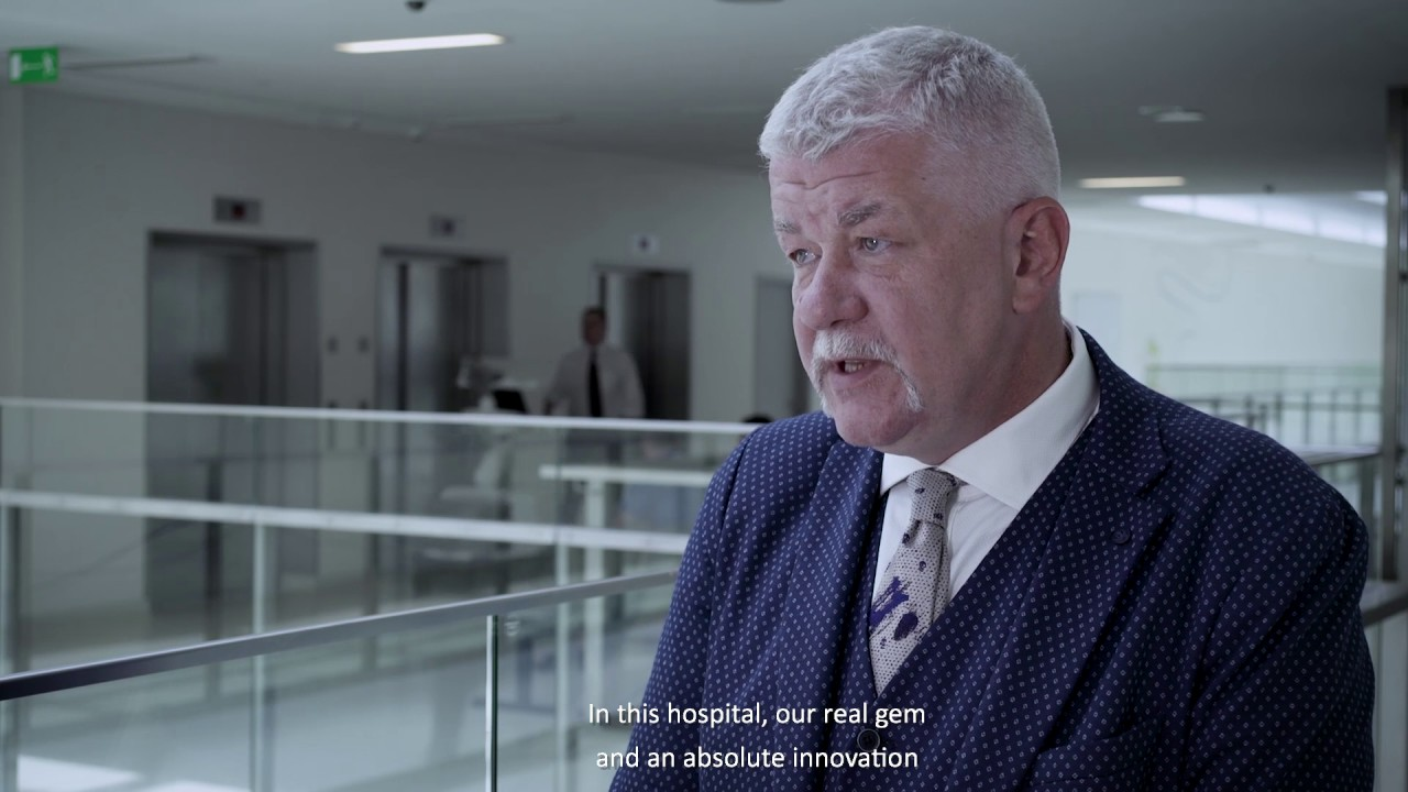 O nowoczesnym wyposażeniu Kliniki Kardiologii Inwazyjnej mówi dyrektor szpitala, Robert Krawczyk