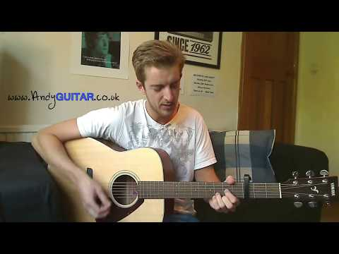 Lean On Me Guitar Lesson  - Play 10 guitar songs with 3 EASY chords Song #1
