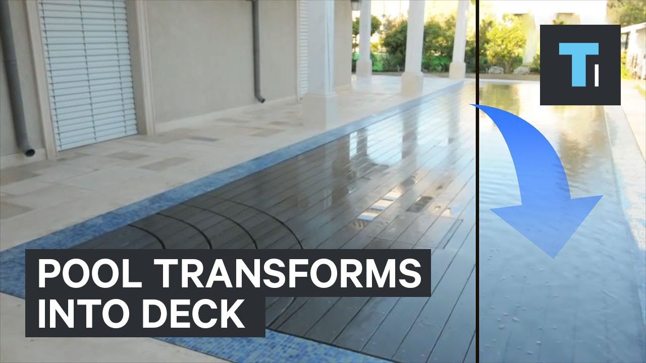 Pool transforms into a deck youtube pool transforms into a deck dailygadgetfo Choice Image