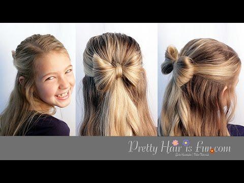 Cute Hair Bow Hairstyle Tutorial Youtube