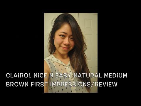 REVIEW: Clairol Nice N Easy (Natural Medium Brown) - YouTube