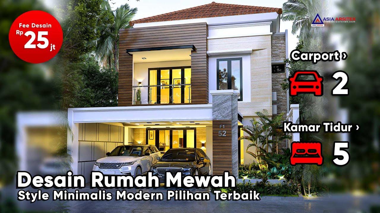 Desain Rumah Mewah Minimalis Modern 2 Lantai 20 X 9 M Di Cibubur Jakarta Timur Youtube