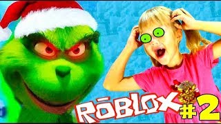 What did the GRINCH Why ruined the new year? ESCAPE FROM GRINChA #2! The Grinch Roblox Obby Robloks