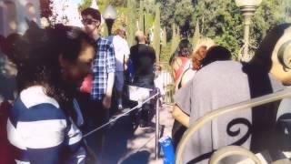Waiting in line at Disneyland