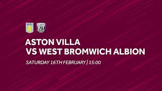 Aston Villa 0-2 West Bromwich Albion | Extended highlights
