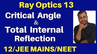 Ray Optics 13 : Critical Angle and Total Internal Reflection - TIR - JEE/NEET