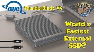 OWC Thunderblade V4 - World's Fastest Thunderbolt 3 TB3 External SSD!!
