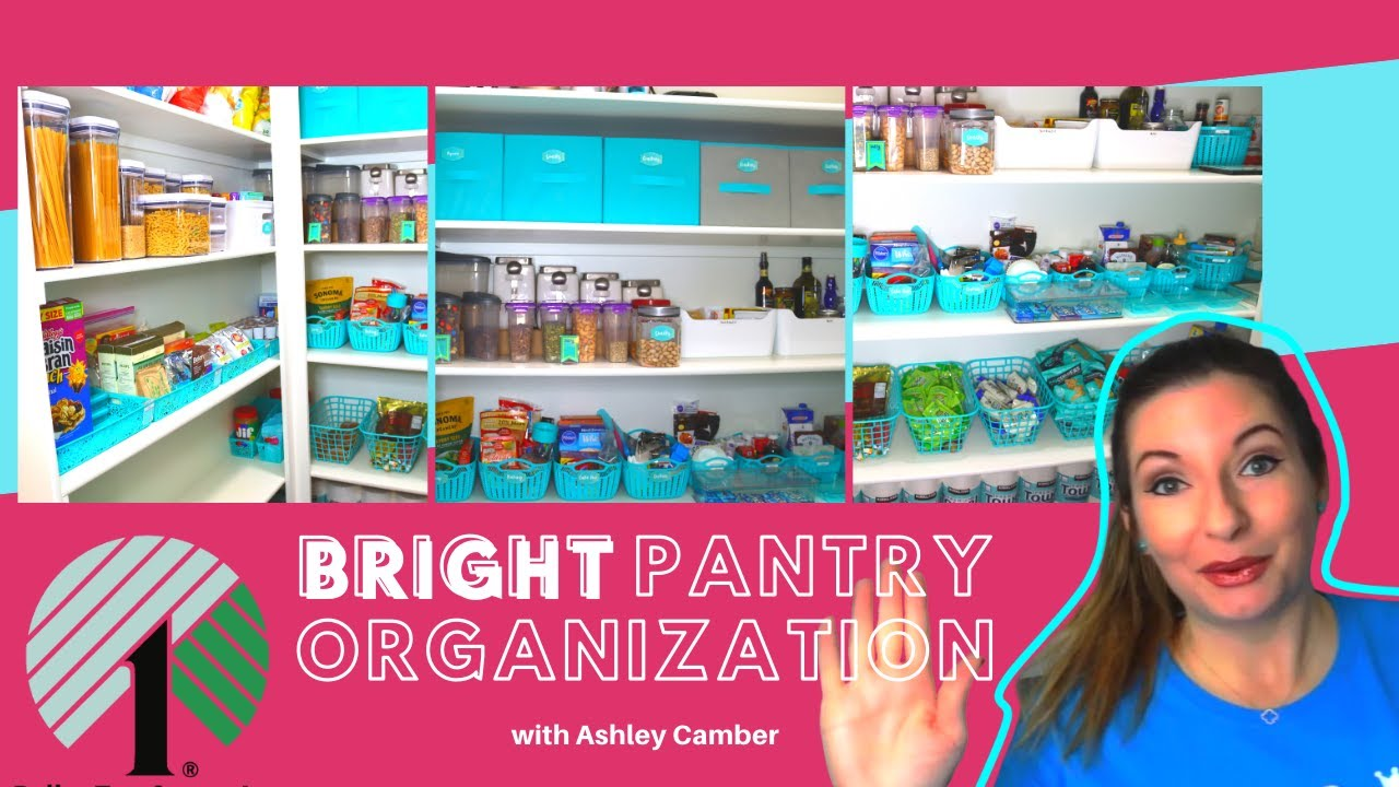 Bright Kitchen Pantry Organization How To   Clean with Me   Dollar Tree Ideas   Real Before & After