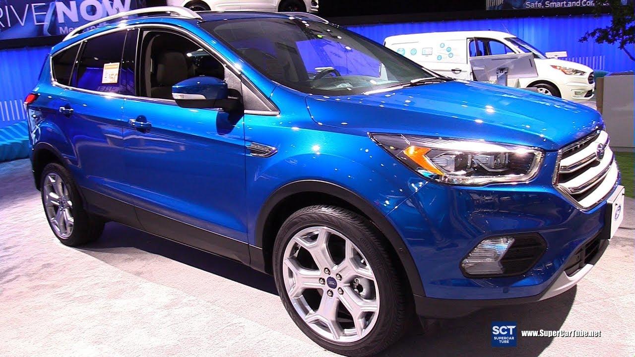 Ford Escape Titanium >> 2019 Ford Escape Titanium Exterior And Interior Walkaround 2018 La Auto Show