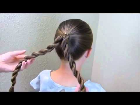 Back to school hairstyle tutorial for long hair ASMR