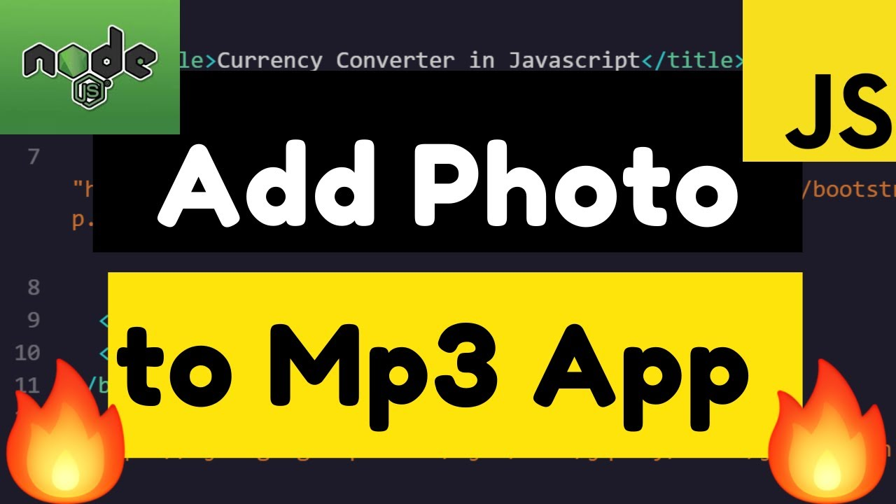 Node.js Express FFMPEG Add Photo to Audio Mp3 File Online Tool Developed Using Javascript