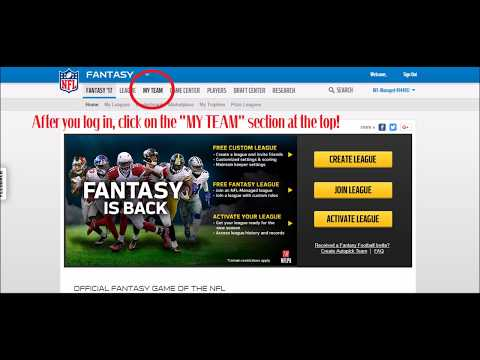 How To Change NFL Fantasy Football Team Logo Picture - YouTube