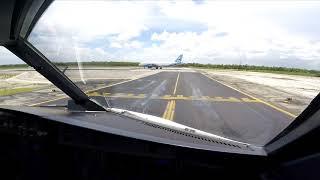 Vista de Piloto - Despegue de Cancun Mexico