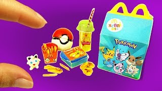 DIY Miniature Happy Meal: Doll Fast Food (Nuggets, Fries, Pokemon, & Soda)