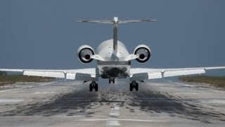 Private Jets at Skiathos, the 2nd St Maarten|CL-600,Hawker 750,800XPi|Skiathos PlaneSpotting