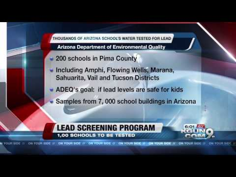Arizona Department of Environmental Quality testing water at more than 1,000 schools for lead levels