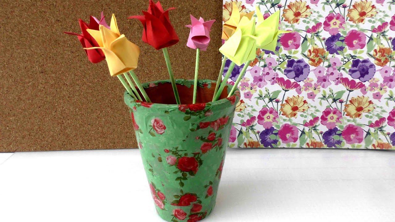 Blumentopf gestalten blumentopf als geschenk deko f r den garten im sommer youtube - Lattenrost als deko ...
