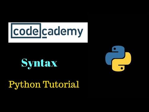#1 Python Tutorial --- Codecademy thumbnail