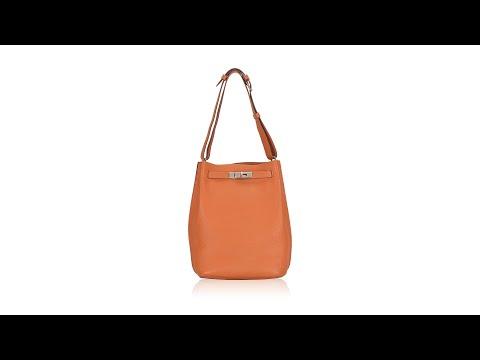 Hermes Taurillon Clemence So Kelly 22 Orange