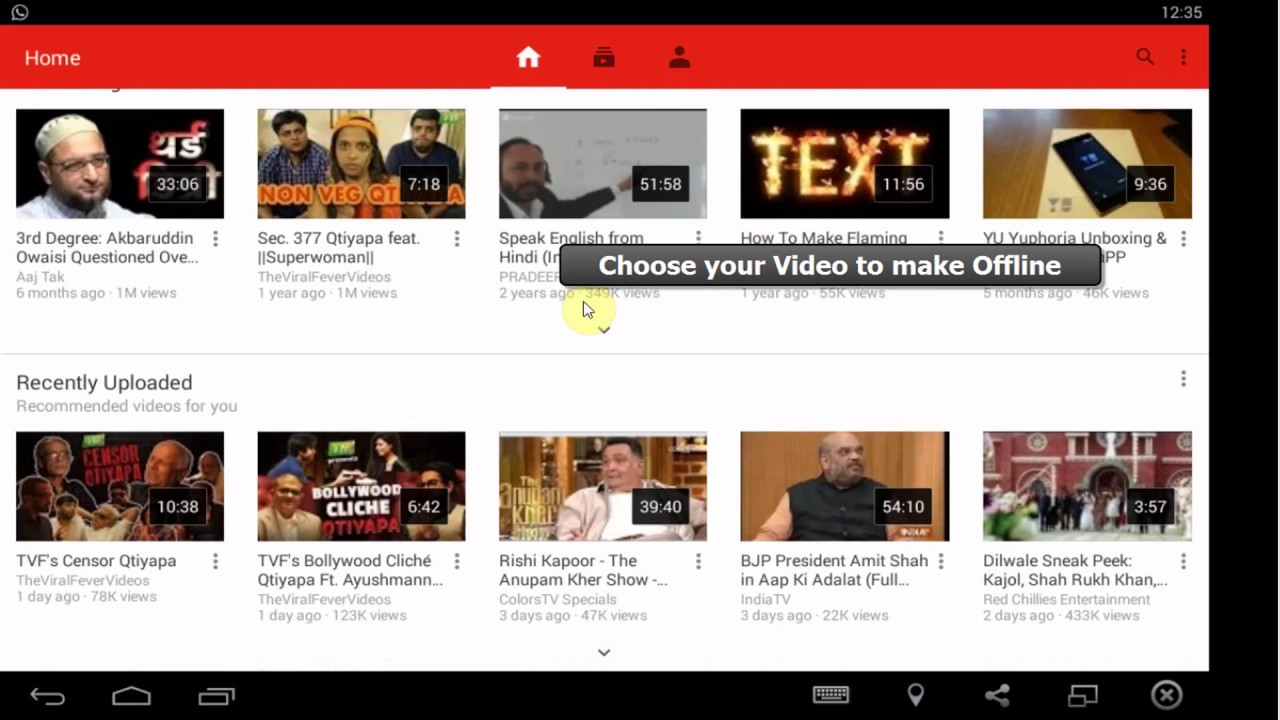 How To Watch Youtube Videos Offline  Youtube Videos Without Internet [hd]