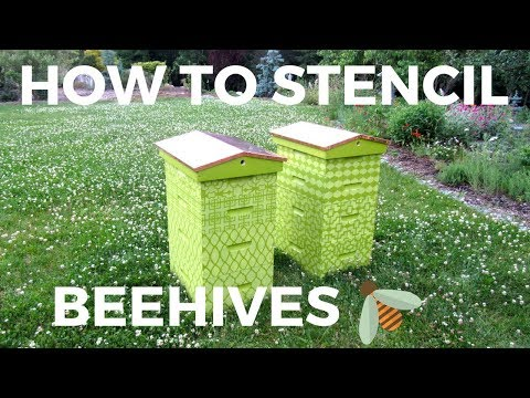 How to stencil Beehives with Craft Stencils and Benjamin Moore Paints