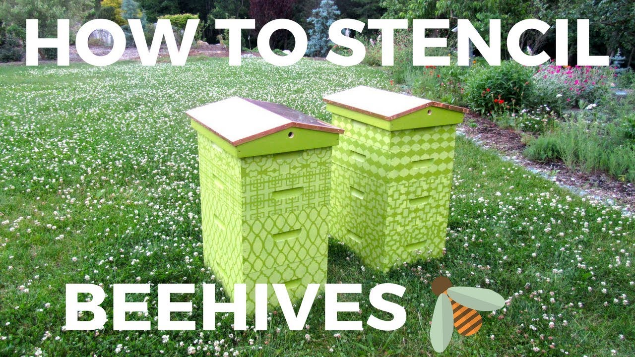 How to stencil Beehives with Craft Stencils and Benjamin