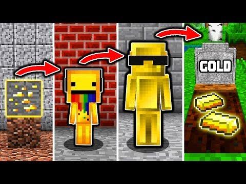 GOLD LEBENSZYKLUS in Minecraft – Vom BABY zum SCHATZ