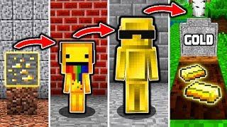 GOLD LEBENSZYKLUS in Minecraft - Vom BABY zum SCHATZ