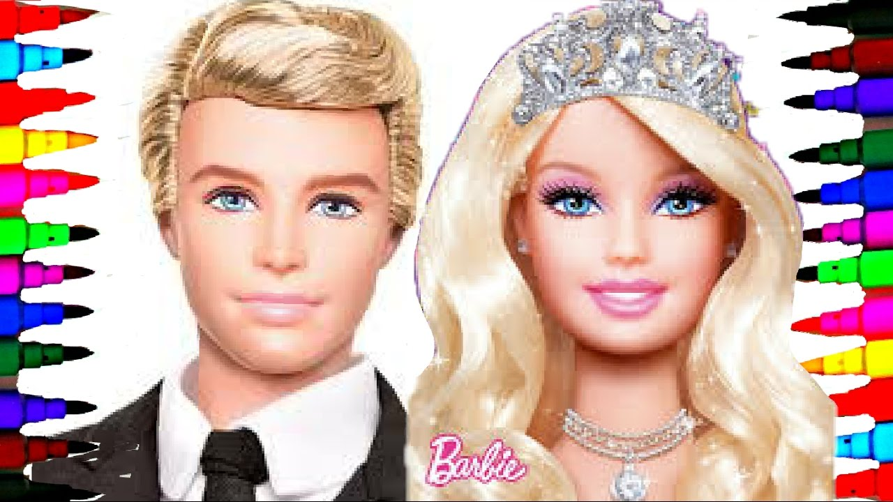 Barbie And Ken Best Learning Coloring Book L Pages For