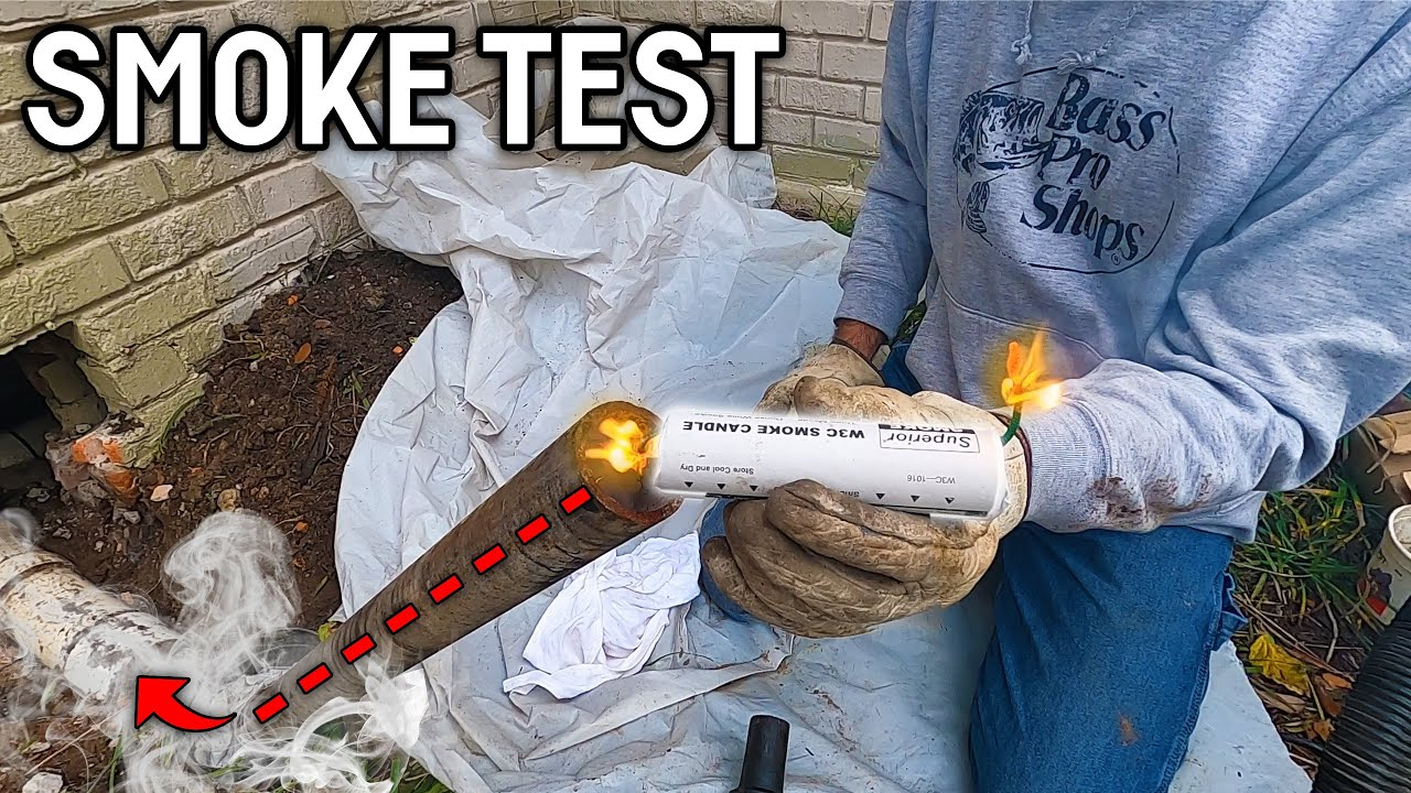 Using a SMOKE BOMB to Find Sewer Leaks! | WORSE Than We Thought?