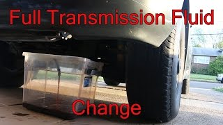 LX470 full transmission Fluid exchange Best way for high millage trucks