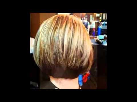 Stacked Bob Hair Cut - YouTube