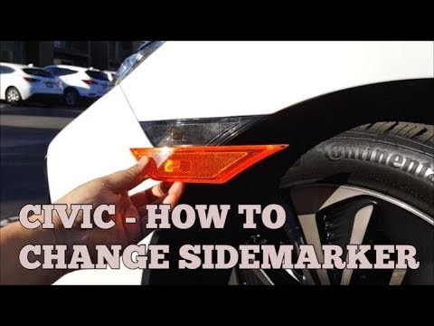[Tutorial] How to install Smoked Sidemarker Honda Civic Hatchback Sedan Coupe